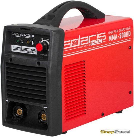 Инвертор сварочный Solaris MMA-200HD + AK (220В,5-200А)