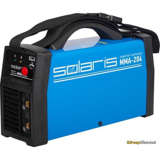 Инвертор сварочный Solaris MMA-204 + AK (220В,5-200А)
