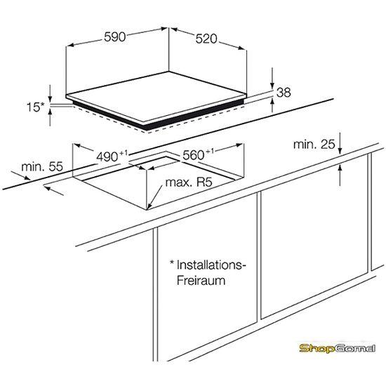 Варочная поверхность Electrolux EHF6547FXK