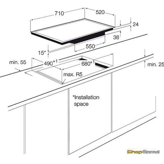 Варочная поверхность Electrolux EHF7647FOK