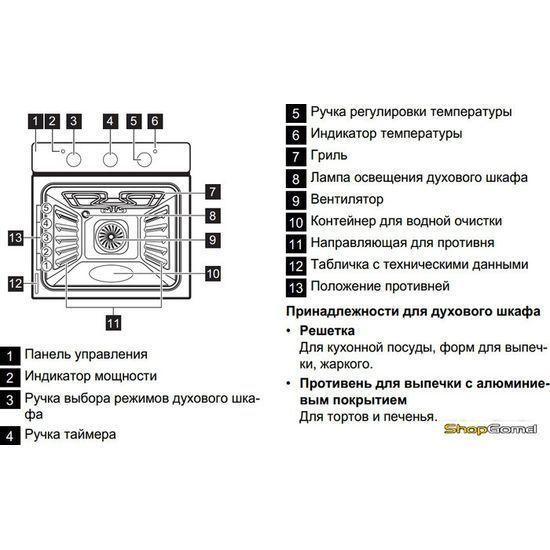 Духовой шкаф Zanussi ZOB21301LR