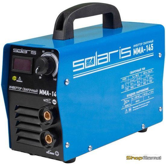 Инвертор сварочный Solaris MMA-145 + AK (220В,20-145А)