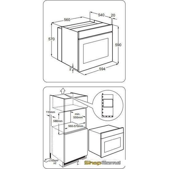 Газовый духовой шкаф Zanussi ZOG51411XK