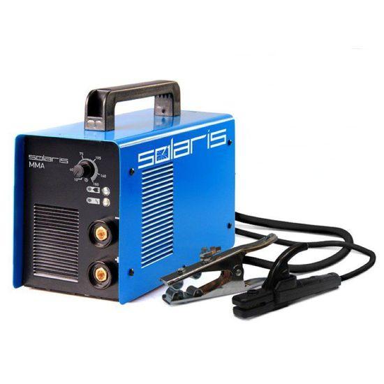 Инвертор сварочный Solaris MMA-205В + ACX (220В,10-200А) пласт. чем