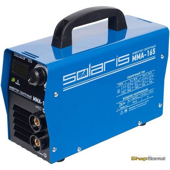 Инвертор сварочный Solaris MMA-165 + AK (220В,20-165А)