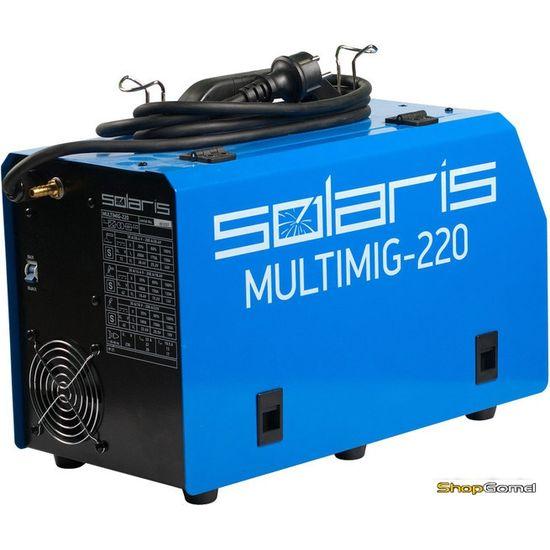 Сварочный инвертор Solaris MULTIMIG-220 (MIG-TIG-MMA)
