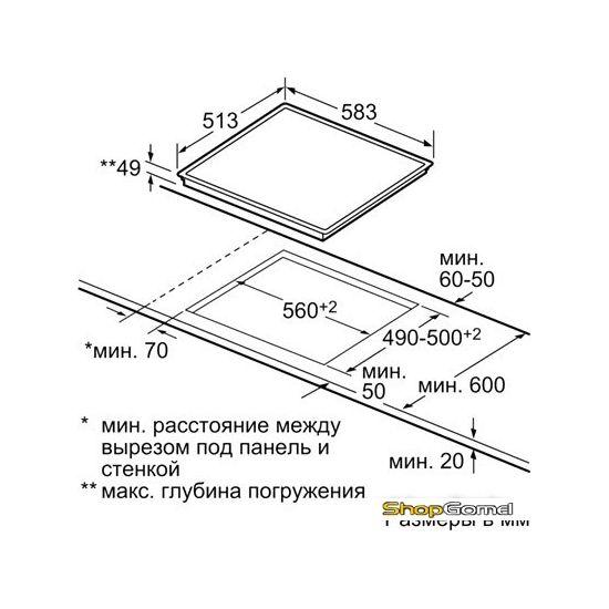 Варочная поверхность Bosch PKB645F17